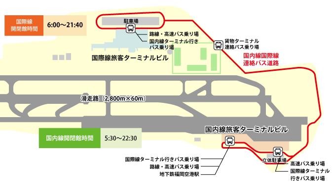 福岡空港のLCCターミナル地図