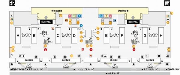 関西空港第一ターミナル4階地図