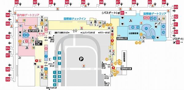関西空港第二ターミナル地図